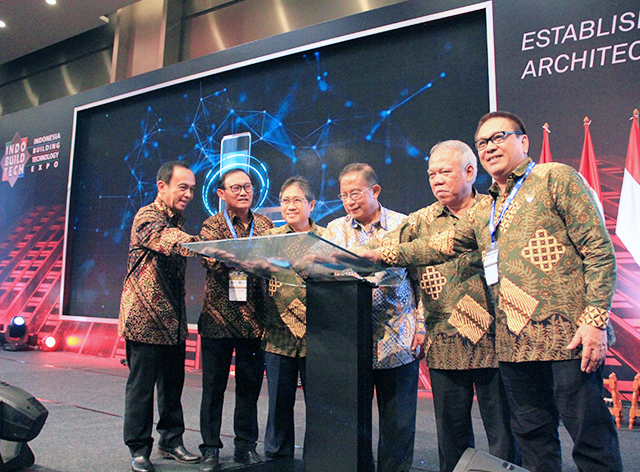 Official opening by CEO of PT. Debindo ITE, President of INTAKINDO, Director General of Construction of Ministry of Public Works and People's Housing, Coordinating Minister for Economic Affairs, Minister of Public Works & People's Housing & President of LPJK, National Region