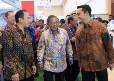 Mr. Darmin Nasution as Indonesian Coordinating Minister of Economic Affairs toured around Hall 3A of ICE BSD City