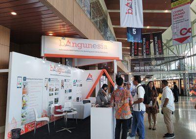 Bangunesia's booth at IndoBuildTech Expo 2019