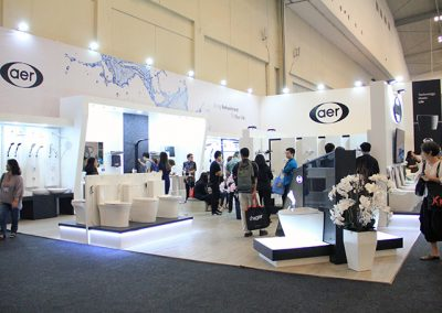 Aer's Booth at IndoBuildTech Expo 2019