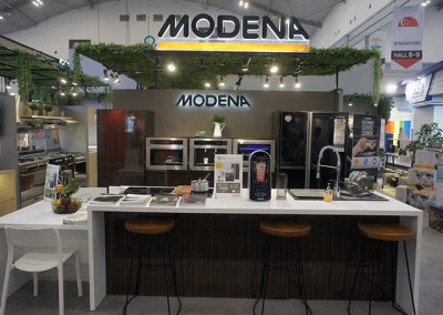 Modena's Booth at IndoBuildTech Expo 2019