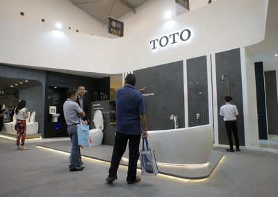 Toto's Booth at IndoBuildTech Expo 2019