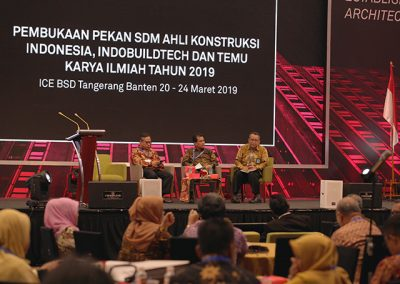 """The Annual Scientific Meeting (PIT), """"Construction Technology Innovation in Infrastructure Planning and Strengthening in Disaster - Prone Areas"""" has been successfully held in Nusatara 3 by the National Association of Indonesian Consultant Experts (INTAKINDO)."""