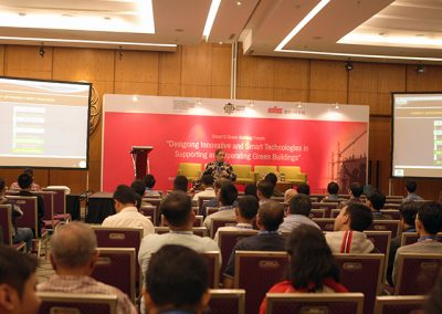 """Ir. Rana Yusuf Nasir was present as one of the speakers at the """"SMART BUILDING"""" seminar organized by ICAN."""