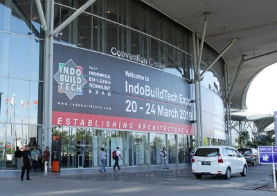 IndoBuildTech Expo 2019 Main Gate at ICE BSD City